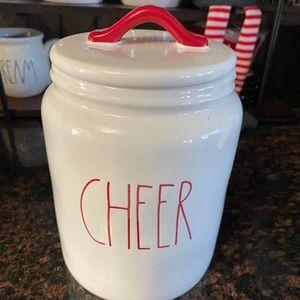 Rae Dunn CHEER canister